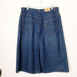 Levi's Vintage Orange Tab High Rise Denim Skirt
